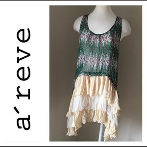 A'reve Green/ Cream New Dress